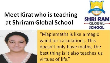 """""""Maplemaths is like magic wand for calculations""""-says Kirat"""