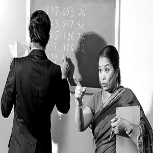 Shakuntala Devi teaching maths