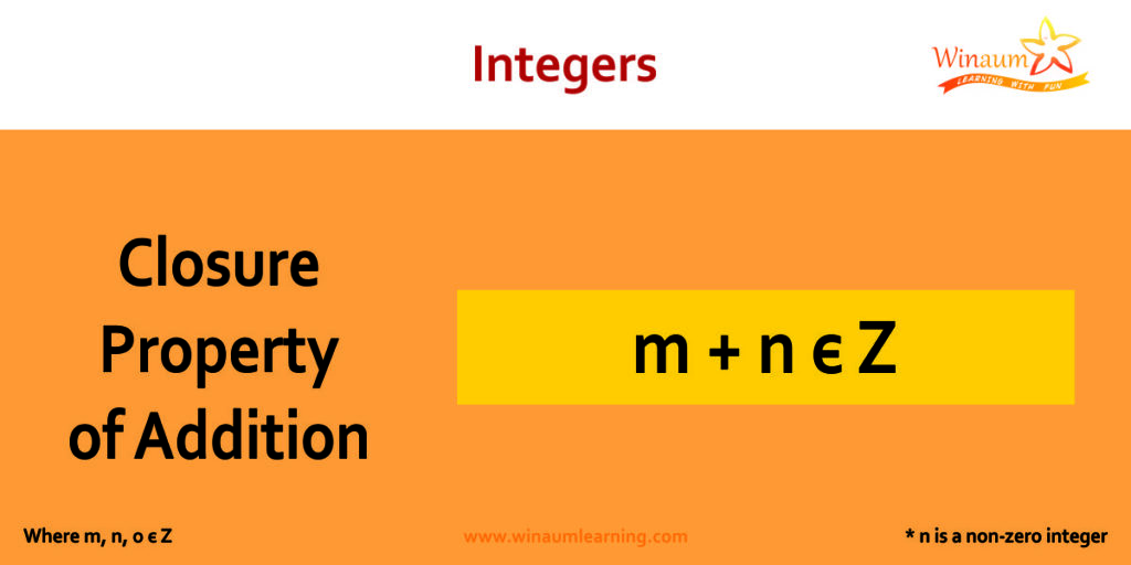 closure property of addition in integers
