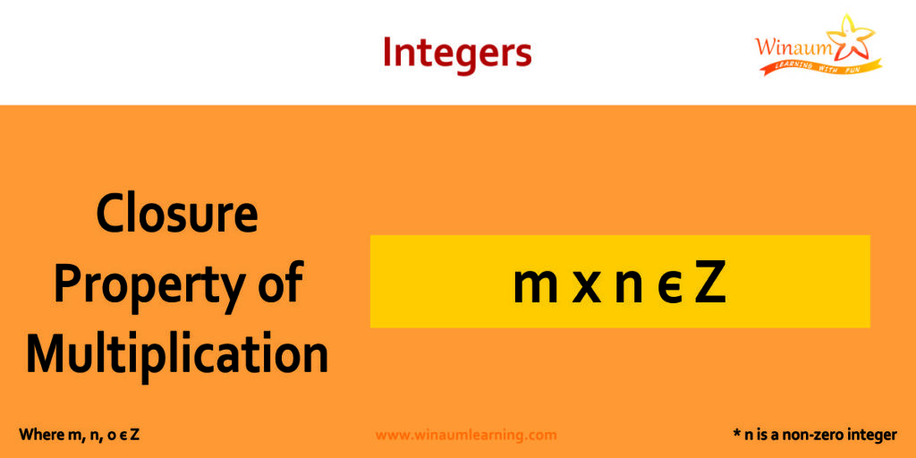 closure property of multiplication in integers