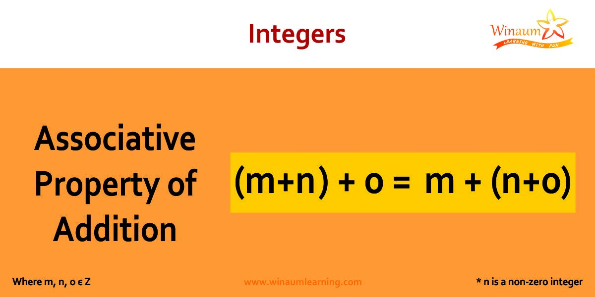 associative property of addition in integers