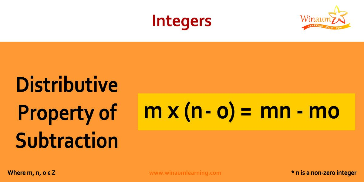 Distributive Property of Subtraction